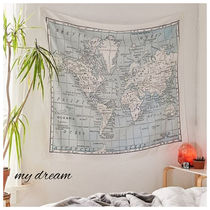 UO★Catherine Holcombe For Deny WorldMap Tapestry(152×130cm