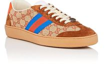 ☆GUCCI☆ Men's JBG Leather & Suede Sneakers New Arrival