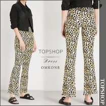 【国内発送・関税込】TOPSHOP★Leopard-print stretch trousers