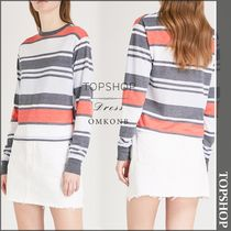 【国内発送・関税込】TOPSHOP★Striped jersey top