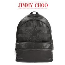 【Jimmy Choo】Reed studded leather backpack