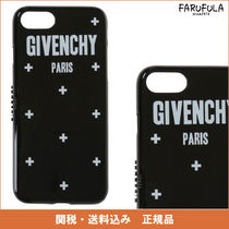 GIVENCHY iphone 7 ケース 黒×白 ロゴ