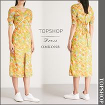 【国内発送・関税込】TOPSHOP★Floral empire line midi dress
