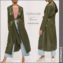 【国内発送・関税込】TOPSHOP★Split-sides satin coat