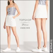 【国内発送・関税込】TOPSHOP★Pinstripe denim skirt