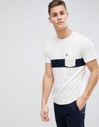 Abercrombie & Fitch Tシャツ・カットソー SALE【A&F】ロゴポケット 半袖 Tシャツ ホワイト / 送料無料(3)