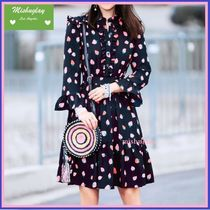 【kate spade】SALE★可愛いイチゴ柄♪tossed berry shirtdress
