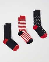 Abercrombie & Fitch 3 Pack Casual Socks