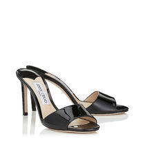 【VIP SALE】Jimmy Choo STACEY 85 ☆レザー ミュール 黒 S846