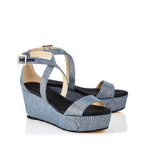 【VIP SALE】Jimmy Choo PORTIA 70 デニム Wedgeサンダル S848