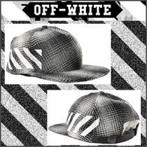 【OFF WHITE】17FW DIAG WHITE CHECK キャップ BLACK/追跡送料込