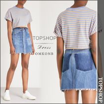 【国内発送・関税込】TOPSHOP★Striped cottonjersey croppedtop