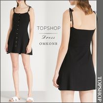 【国内発送・関税込】TOPSHOP★Buttondown stretch-jersey dress