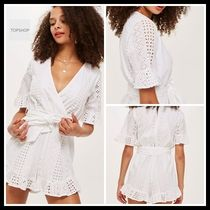 TOPSHOP★国内未入荷 Broderie Wrap Playsuit ジャンプスーツ