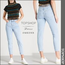 【国内発送・関税込】TOPSHOP★Bleach mom-fit cropped jeans