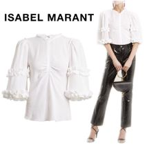 【18SS】★ISABEL MARANT★Cleavon ruffled cotton top