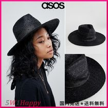 ★ASOSBrixton Macy Fedora in Black with Beaded Detail