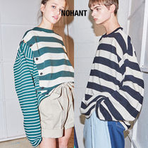 NOHANT(ノアン) Tシャツ・カットソー ★NOHANT★ DOUBLE STRIPED COTTON-JERSEY T-SHIRT STRIPE