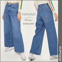【国内発送・関税込】TOPSHOP★Wide-leg high-rise jeans