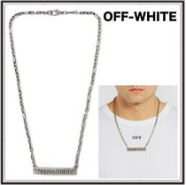 18SS☆OFF-WHITE「NAME HERE」 スクエアプレートネックレス