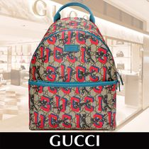 GUCCI Childrens GG Gucci Wolves Backpack 関税送料込
