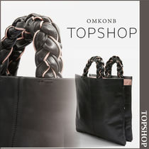【国内発送・関税込】TOPSHOP★Premium Leather Miyah Tote Bag