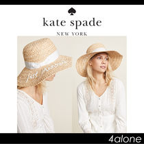 kate spade new york☆Just Married ストローハット