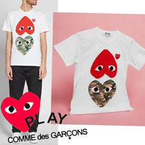 ● COMME des GARCONS PLAY ●新! MIX HEART Tシャツ 迷彩x赤