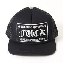 (送料・関税込)CHROME HEARTS  Trucker Cap 黒x黒