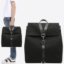 18SS VM204 CANVAS & CALF LEATHER BACKPACK
