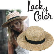 lack of color(ラックオブカラー) ストローハット 即納ack of color ストローハットThe Spencer Boater