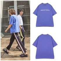 ORDINARY PEOPLE(オーディナリーピープル) Tシャツ・カットソー ORDINARY PEOPLEのORDINARY CUTTING DETAIL PURPLE T-SHIRT