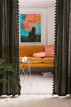 Urban Outfitters カーテン 大人気♪ Urban Outfitters Pompom Curtain カーテン(2)