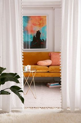 Urban Outfitters カーテン 大人気♪ Urban Outfitters Pompom Curtain カーテン(4)