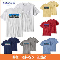 Patagonia ロゴ ポケット Tシャツ 白 グレー 紺 黄 青 赤