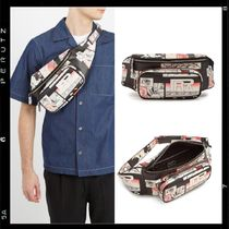 【PRADA】Comic-strip print leather belt bag  サコッシュ