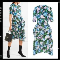 国内検品【BALENCIAGA】 Floral-print dress ELLE掲載 Koki着用