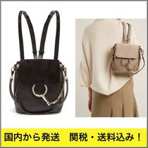 関税込!//Chloe Faye small leather backpack