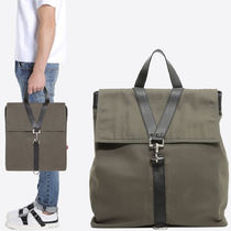 18SS VM208 CANVAS & CALF LEATHER BACKPACK