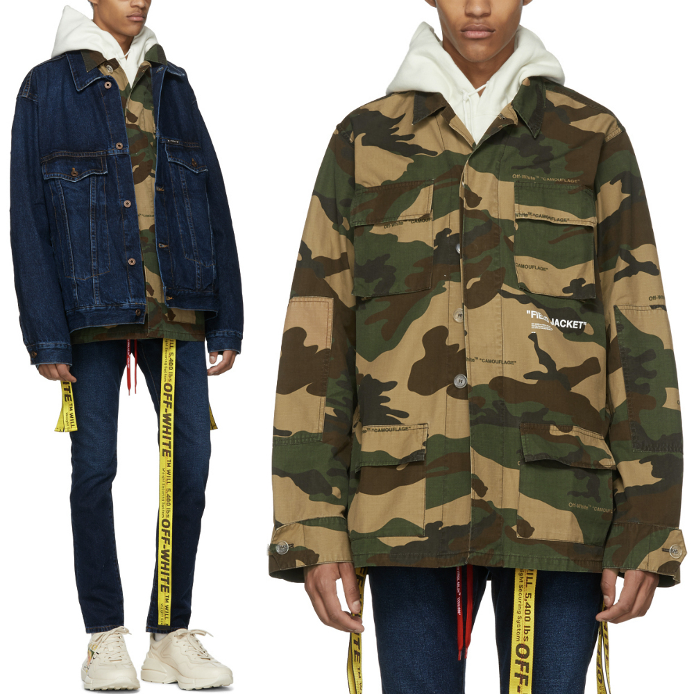 18-19AW OW050 OVERSIZED CAMOUFLAGE FIELD JACKET (Off-White/ブルゾン) OMEL003E180260109901