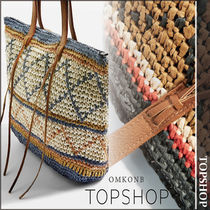 【国内発送・関税込】TOPSHOP★RAFIA Zig Zag Shopper Bag