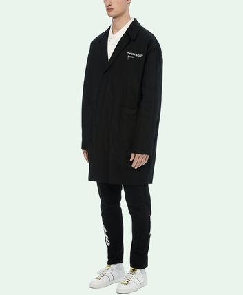 Off-White コートその他 18-19AW OW055 QUOTE WORK COAT(4)