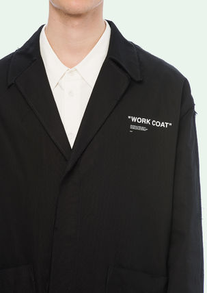Off-White コートその他 18-19AW OW055 QUOTE WORK COAT(7)