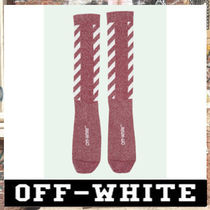 《最新作!!》18AW [OFF-WHITE]RED DIAG SOCKS