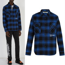 18-19AW OW056 BLUE QUOTE SHIRT