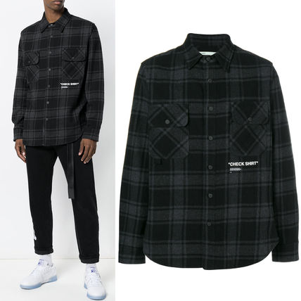 18-19AW OW057 BLACK QUOTE SHIRT