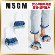 トレンド◇MSGM◇Denim Tie Dye Pool Slides 【関税送料込】