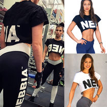 【送料込】NEBBIA CROP TOP 461 - BLACK / WHITE