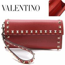 VALENTINO/正規品/EMS送料込み Rock Stud Handle Long Wallet