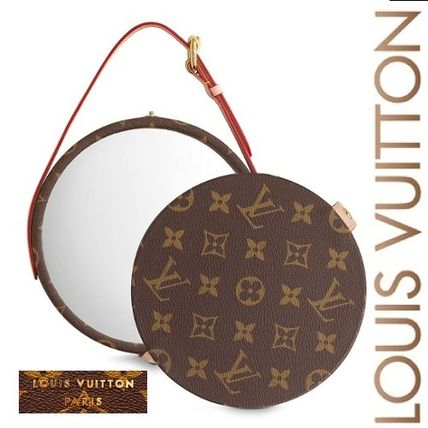 Louis Vuitton 鏡 LOUIS VUITTON★MIROIR DORIAN モノグラム  ミラー brown